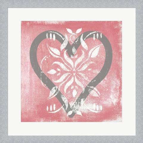 Hakimipour - Ritter 'Love' Framed Art