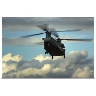 """""""Chinook Helicopter"""" Poster Print"""