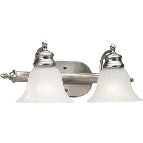 """Forte Lighting 5038-02 2 Light 18"""" Wide Bathroom Fixture from the Bath Collection"""