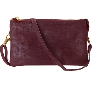 """Humble Chic Large Wristlet - Vegan Leather Small Crossbody Bag or Clutch Purse - 5"""" x 8.5"""" x 1"""""""