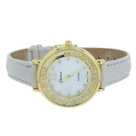 Designer Womens Geneva Watch Lab Diamonds Floating Stones Analog Display Stainless Steel Back