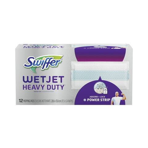 Swiffer 73117 WetJet Heavy Duty Mopping Pad, Cloth, 12 Count