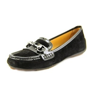 Sebago Saybrook Link Women Moc Toe Suede Black Loafer