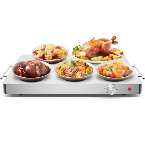Costway Electric Warming Tray Food Dish Warmer Stainless Steel Hot