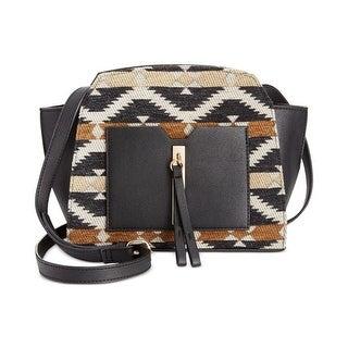 Danielle Nicole Womens Akila Crossbody Handbag Mixed Media Lined - aztec print - small