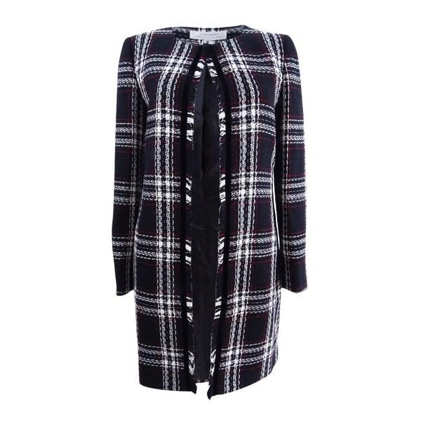baffb3b846bb8 Shop Tahari ASL Women s Plaid Fringe Topper Jacket (6