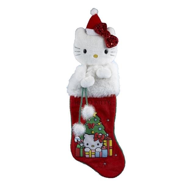 Hello Kitty Red Plush Head Stocking