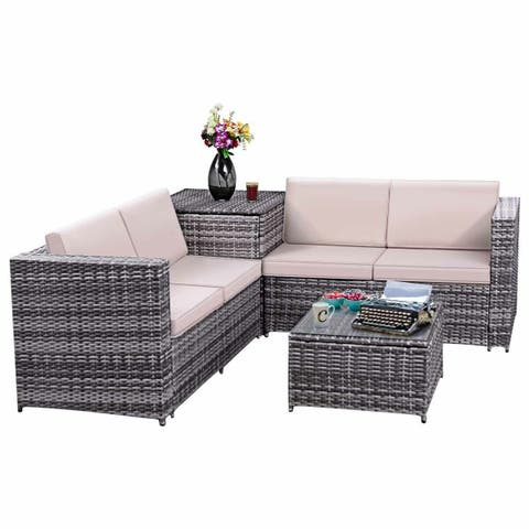 Outdoor Patio Furniture With Storage.Wicker Patio Furniture Find Great Outdoor Seating Dining Deals