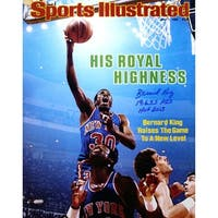 Signed Bernard King signed New York Knicks 16x20 Photo Sports Illustrated Cover May 7 1984 dual 196