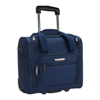 """Travelers Club  TPRC 15"""" Underseater USB Port Carry-On Luggage Blue - US One Size (Size None)"""