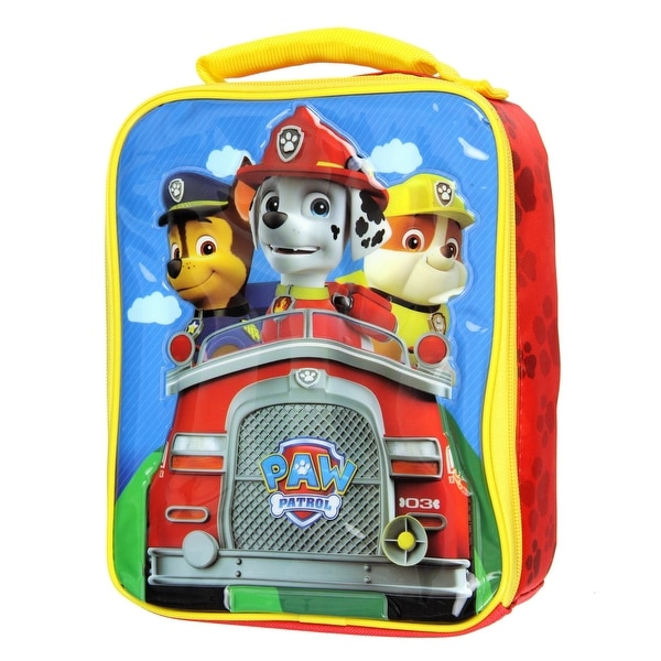 Paw Patrol Lunch Box Kit Marshall Rubble Chase Soft Insulated Lunch Bag