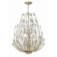"""Fredrick Ramond FR31028 Tulah 8 Light 26-1/2"""" Wide Chandelierwith Crystal Accents"""