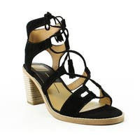 Dolce Vita Womens Misha Black Sandals Size 7.5