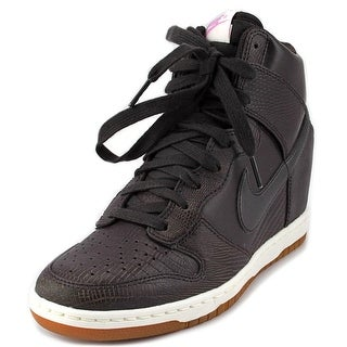 Nike Dunk Sky Hi Women Round Toe Leather Brown Sneakers