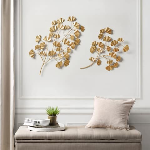 Martha Stewart Clio Gold Foil Ginkgo Leaf 2-Piece Set