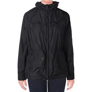 L-RL Lauren Active Womens Windbreaker Jacket Lined Long Sleeves