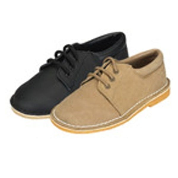 d3bf1ae00 Shop Khaki Faux Suede Boys Dress Shoes Size 5-2 - Free Shipping On Orders  Over $45 - Overstock - 25572152