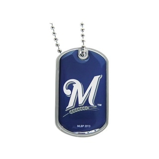 Milwaukee Brewers Dog Tag Necklace Charm Chain