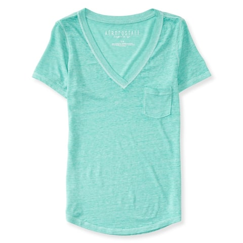 Aeropostale Womens Mini Pocket Embellished T-Shirt