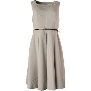 Calvin Klein Womens Pleated Sleeveless Wear to Work Dress - 4