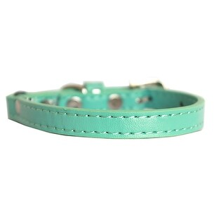 Premium Plain Cat safety collar Aqua Size 12