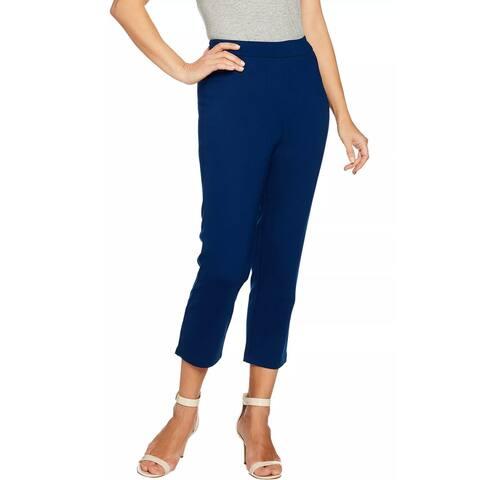 Joan Rivers Womens Signature Pull-On Crop Pants XX-Small Navy XXS A288774