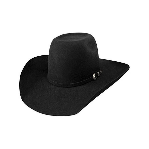 f3b3fd08efaca Shop Resistol Cowboy Hat Mens Tuff Hedeman Pay Window Wool Black - Free  Shipping Today - Overstock - 19735574