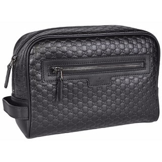Gucci Men's 419775 Black Leather Micro GG Guccissima Large Toiletry Dopp Bag|https://ak1.ostkcdn.com/images/products/is/images/direct/5cf798d9e856067525056123b340e26433410f5c/Gucci-Men%27s-419775-Black-Leather-Micro-GG-Guccissima-Large-Toiletry-Dopp-Bag.jpg?impolicy=medium