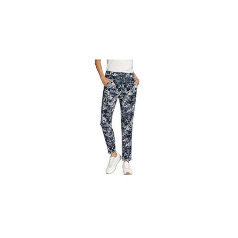 Basler Womens Jogger Pants Floral rint Touser - Navy-White - 12