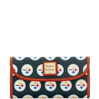 Dooney & Bourke NFL Pittsburgh Steelers Continental Clutch Wallet (Introduced by Dooney & Bourke at $128 in Aug 2016)