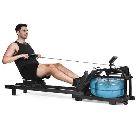 Costway Health Fitness Water Rowing Machine Rower Adjustable