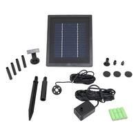 Sunnydaze 65 GPH Solar Pump & Panel Kit With Battery Pack & LED 47 Inch Lift