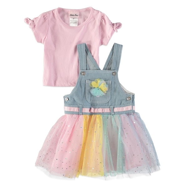 a940c53db5 Shop Little Lass Girls 2T-4T Tulle Skirtall Set - Pink - Free Shipping On  Orders Over $45 - Overstock - 21691094