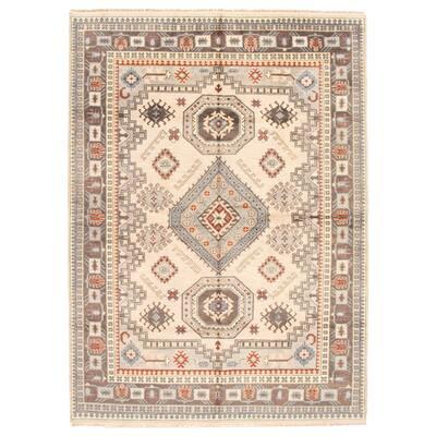 ECARPETGALLERY Hand-knotted Royal Kazak Beige Wool Rug - 8'9 x 11'11