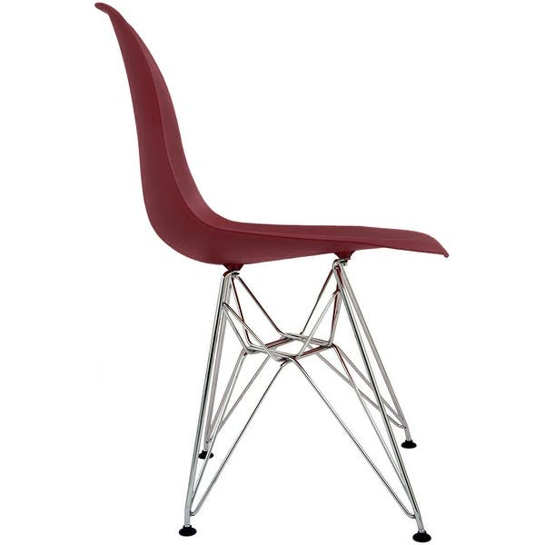 Marvelous Shop 2Xhome Modern Side Dining Chair Red With Wire Chrome Beutiful Home Inspiration Xortanetmahrainfo