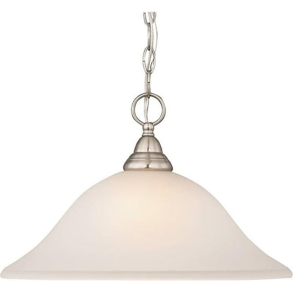 Boston Harbor LYB130928-1DP-BN 1-Light Pendent Light Fixture, Alabaster & Brushed Nickel