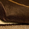 "AllStar Rugs Brown Modern Contemporary Area Rug (7' 10"" x 10' 2"") - Thumbnail 4"