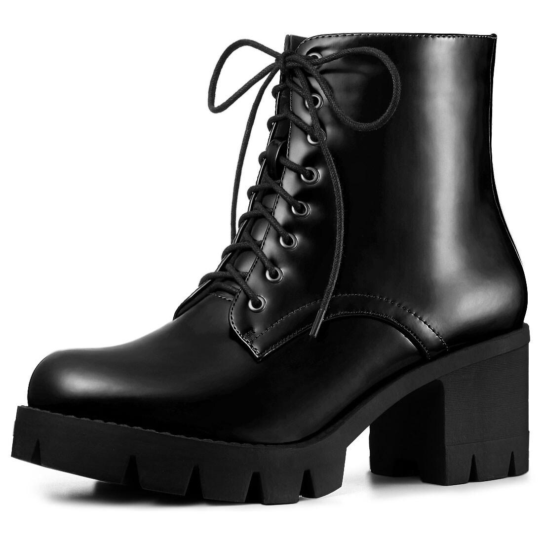 Black Womens Combat Boots Cheap