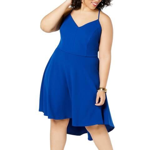 B. Darlin Womens Dress Blue Size 20W Plus Lace Back-Cutout High-Low
