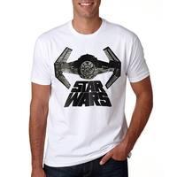 Star Wars Darth Vader's Ship Men's T-Shirt, White