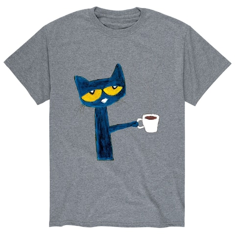 Pete The Cat with Coffee - Adult Short Sleeve Tee