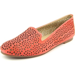 Julianne Hough Laurelle Women Round Toe Suede Orange Flats