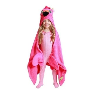 Zoocchini 11104 Franny the Flamingo Hooded Towel - 50 x 22 in.