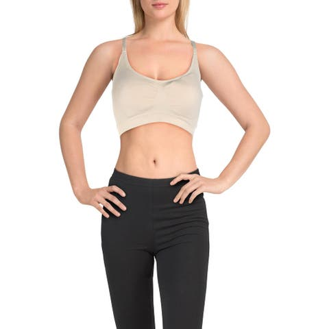 Yummie by Heather Thomson Womens Sports Bra Fitness Running - Nude - S/M