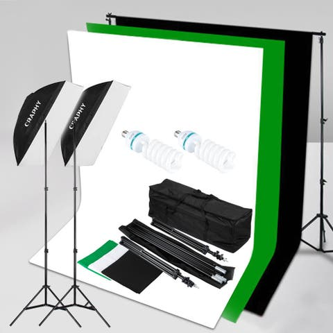 Craphy SHLP - 0125 1250W 5500K Softbox Continuous Lighting Kit