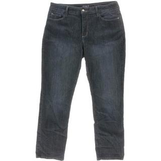 NYDJ Womens Petites High Waist Stretch Boyfriend Jeans - 14P