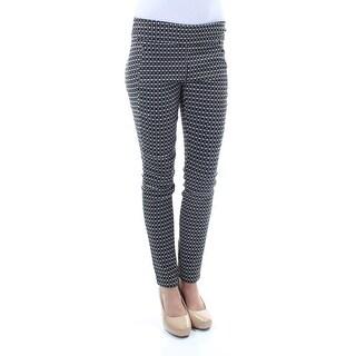 Womens Black Geometric Pants Size 2XS