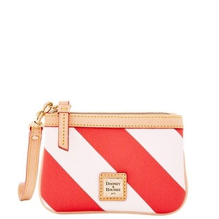 Dooney & Bourke Chevron Medium Wristlet (Introduced by Dooney & Bourke at $68 in Dec 2014) - Red