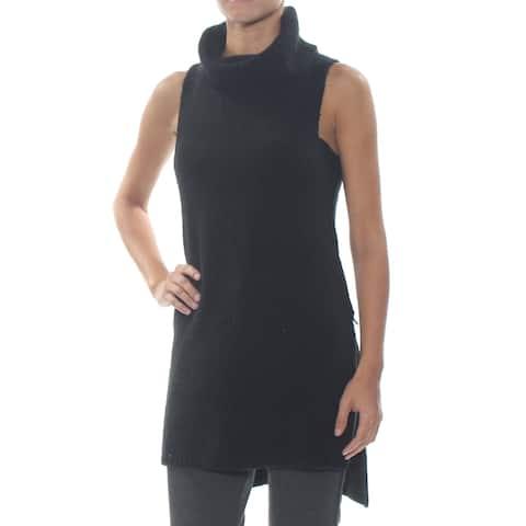 BAR III Womens Black Sleeveless Sweater Size: XS