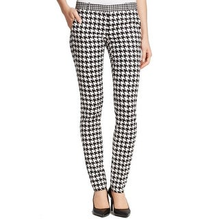 Michael Kors NEW Black Women's Size 14X28 Houndstooth Print Pants